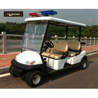 China Four Person Custom Electric Golf Carts Police Patrol Car With Curtis Controller on sale
