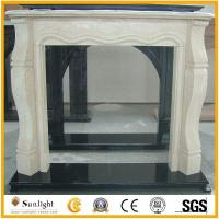 Culture Stone European Cream Marfil Beige Marble Stone Fireplace