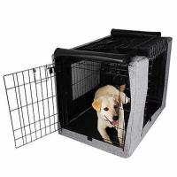 Petsfit Crate Cover for 36 Inches Wire Crates,Size 4000,Two Doors Grey