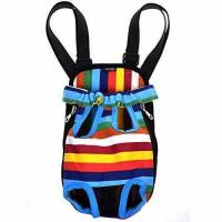 Quality Cosmos Small Size Colorful Strip Pattern Pet Dog Legs Out Front Carrier Bag for sale
