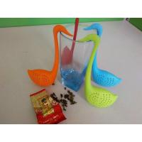 Quality Food grade swan design silicone tea strainer infuser for sale