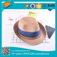 Promotion Panama Solid Fedora knitted Straw hats