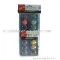 Quality 2.3cm Watercolor Paint Cakes 16 colors for Box Painting for sale