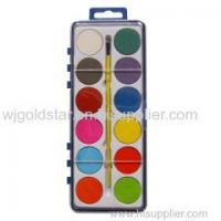 Water Colour Paints And Brush Set 12 Colors Kids Art Craft Artist Box Case