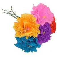 China Hand-Made Paper Ruffled Flower (1) - color varies on sale