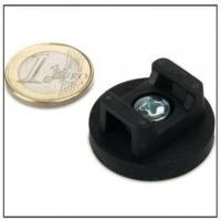 Quality Rubber Covered Pot Magnets for Cable Mounting for sale