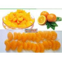 Quality Sweet Organic Canned Fruit Navel Oranges In Light Syrup 312g Whole Orange Segments for sale