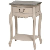 Quality French Manor Lamp Table with Drawer for sale
