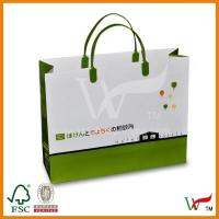 Quality Custom Brown Artpaper Paper Reusable Plastic Shopping Bags with plastic Handle for sale