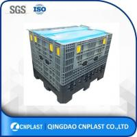 Quality bulk HDPE industrial foldable plastic large container with drop doors for sale