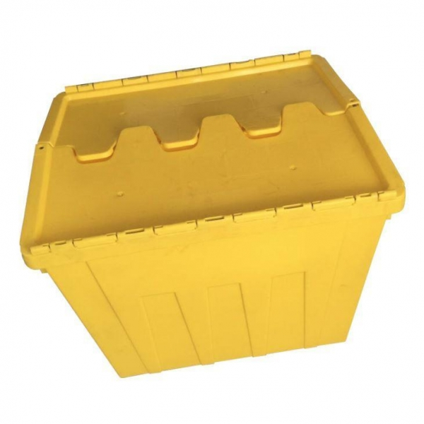 China Attached Lid Nest and Stack Container Totes