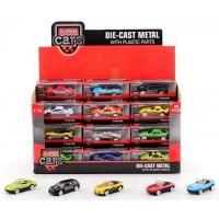 Super Cars Die-Cast Metal with Plastic Parts, All 12 Different