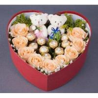 Buy cheap Roses Champagne Roses Chocolate Heart Box from wholesalers