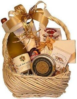Buy Corporate Gifts White Wine Basket at wholesale prices