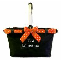 Quality Monogrammed Halloween Market Tote for sale