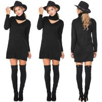 Quality Long Sleeve Halterneck Sexy Sweater Dresses for sale