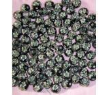 China 20mm round lampwork glass beads with silver foil JEWELRY on sale