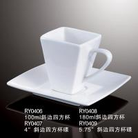 Quality Square Cup W/Handle and saucer-RY0406 RY0407 RY0408 RY0409 for sale
