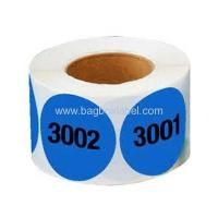 Quality supermarket shelf numbered adhesive labels for sale