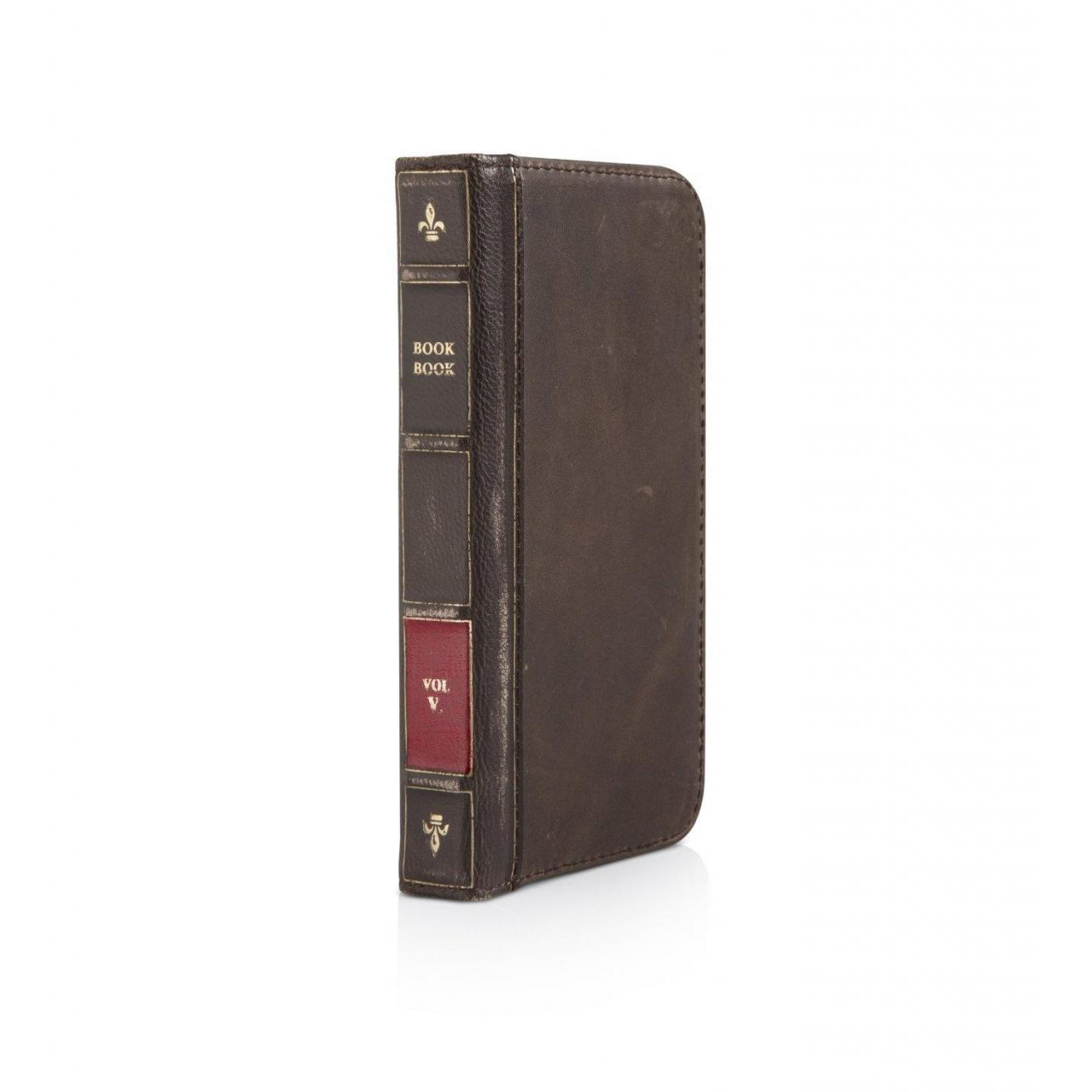 Quality BookBook for iPhone 5 - Vintage leather iPhone case and wallet (vintage brown) for sale