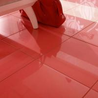 Red Gloss Porcelain Floor Tiles