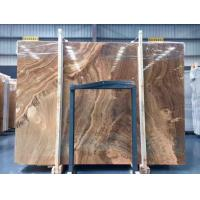 Quality Yellow Wooden Marble Slabs for sale