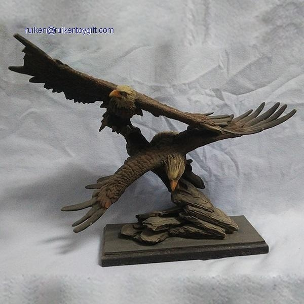 Buy RK12ST008 15 Inch Hand Paint Accent Resin Eagle Family Statue at wholesale prices
