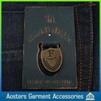 Quality Custom Jeans Leather Patch Labels Metal Logo for Private Brand for sale