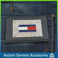 Quality Fashion Custom Metal Leather Label for Garment for sale