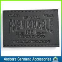 Quality Fashion Design Embossed Metal Leather Label for Jeans for sale