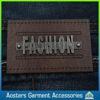 Quality New Design Leather Patch Custom Metal Leather Label for sale