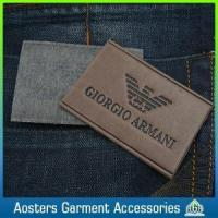 Quality Popular Jeans PU Leather Patch Labels for Clothing for sale