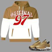 ORIGINAL 97 Pull Over Hoodie to match 97 Air Max Metallic Gold