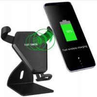 Fast Mobile Cell Phone Car Mount Stand QI Wireless Charger with Holder for Apple iPhone X