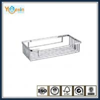 stainless steel square type soap basket in shower room