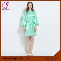 Quality Fung 2903 Bridesmaid Solid Satin Robe for sale