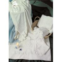 Quality Star Hotel Used White 100% Cotton Jacquard Terry Towel for sale