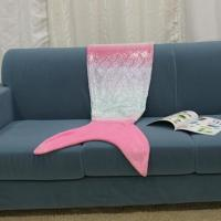 Quality Foiled Printed Mermaid Blanket for sale