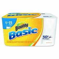 """Quality Bounty 92972 Basic Select-A-Size Paper Towels, 5 9/10"""" x 11"""", 1-Ply, White Pack of 12 for sale"""