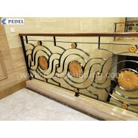 Copper and aluminum stair railing Tieyi stair railing hotel