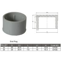 China PVC Conduit and fittings End Plug on sale