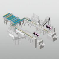 Automatically tray loading packing line