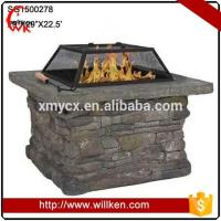 Quality Animal Statues Fiberglass decorative square outdoor brazier for sale