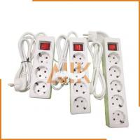Quality 4 Ways Receptacles with Cord and European Plug (2 Round Pins) for sale
