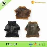 China Soft Suede Fabric Dog Puppy Motorcycle Jacket Clothes Winter Style Pet Dog Clothes on sale