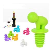Buy cheap WC002Reusable Silicone Wine Bottle Stopper and Wine Glass Markers from Wholesalers