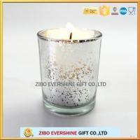 Buy cheap glass candle holder for decoration candle jars with plating colors from Wholesalers