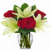 Buy cheap Joyful Lily & Rose Bouquet NO.103 shenzhen flower delivery from wholesalers