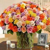 Buy 100 Roses in a Vase NO.55 deliver flower to shenzhen at wholesale prices