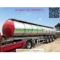 Quality 3 axles pitch tanker semi trailer for sale